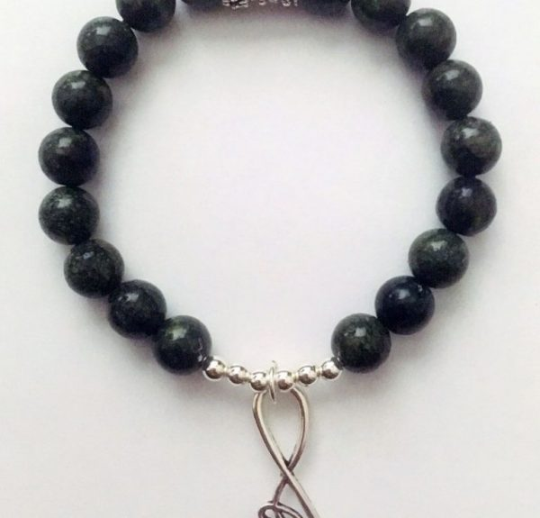INfinite Serpentine Crystal Bead bracelet