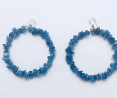 Peace Blue Chalcedony earrings